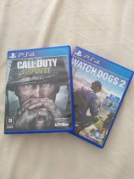 Call of duty WWII e watch dogs 2 para PS4