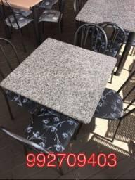 Mesa em granito 4cadeiras, Nova