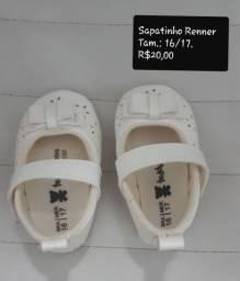 Sapatos para bebê.