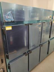 Geladeira comercial 6 portas inox pronta entrega *douglas