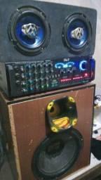 Vendo amplificador com caixa