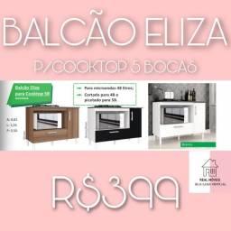 Balcão para cooktop 5 bocas Eliza