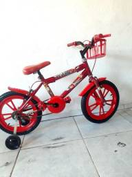 linda bicicleta aro 16 semi nova