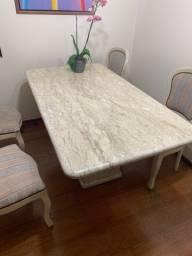 Mesa de jantar de mármore 6 lugares