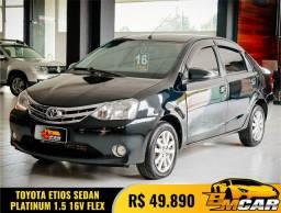 Toyota ETIOS PLATINUM Sed. 1.5 Flex 16V 4p Mec. 2016 Flex
