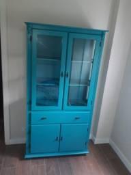 Cristaleira Azul Nova