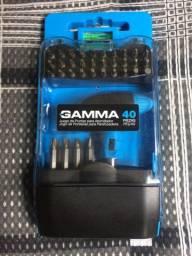 Kit Ponteira P/ Parafusadeira C/ Chave Manual Gamma 40 Pçs