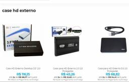 Case para HD externo de notebook ou desktop - 2,5 ou 3,5 Faça Seu Próprio HD Externo