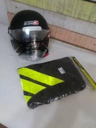 Colete refletivo + faixa capacete