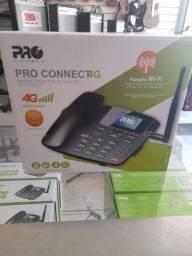Telefone celular fixo de mesa 4g, pega wi-fi
