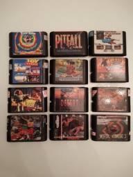 Lote de jogos paralelos de mega drive por preço incrível!