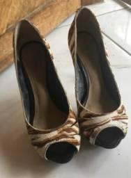 Sandália/Sapato Peep Toe tigrado da grife Dumond