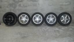 Rodas G.M aro 14 com pneus 185/60