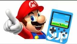 Mini game retro 400 jogos portátil na compra de 2 unidades promoção