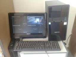 Computador completo, cpu, teclado, mause, tela 15 lcd, marca Positivo
