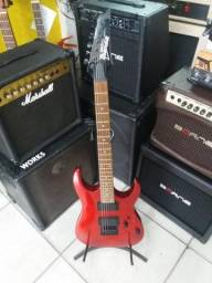 Guitarra ibanez vermelha