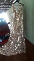 Vestido sereia no paetê bordado