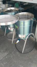 Fritadeira industrial 34 litros agua e oleo entrega para todo sul do brasil