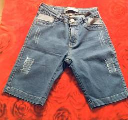 Bermudas jeans feminina