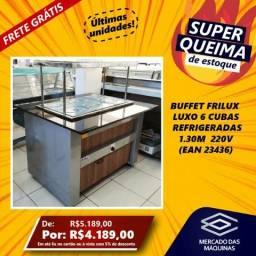 Buffet Frilux Luxo refrigerado 6 Cubas 1.30m 220v NOVO