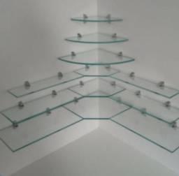 Prateleiras de vidro , Vários tamanhos e modelos (tamanhos e valores na descrição)