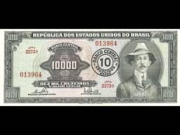 Cedula 10.000 Cruzeiros - Santos Dumont João Pessoa