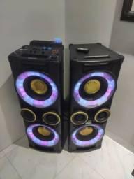 Som Philips NX7 1000W RMS com Bluetooth,CD, USB, Auxiliar, Funçoes DJ, Troco