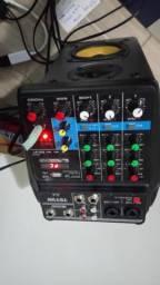 Mesa de som / interface de áudio Teyun de 6 canais