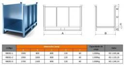 Rack para armazenamento de tecidos - Industria têxtil