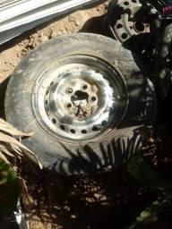 Estepe aro 14 Kombi com pneu meia vida