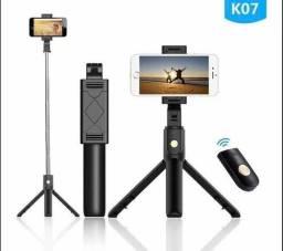 Tripé Com Pau De Selfie Para Celular Bluetooth Sem Fio K07