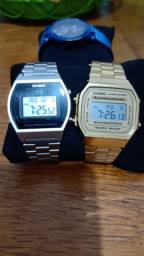 Relógios Casio dourado e prata originais e novos 50 mts resistência à água