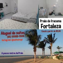 Aluguel de suites para hóspedagem- a poucos metros da praia. Fortaleza
