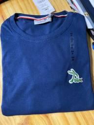 Camisa Lacoste azul marinho - P QUEIMA DE ESTOQUE