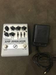 Amp simulator AS1 NIG com fonte 9v
