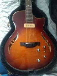 Violão guitarra Crafter Sat híbrido topflame