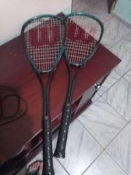 Raquete tênis + 2 bolinhas
