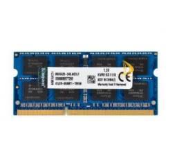 Memória Ram 8gb Ddr3 Notebook Gamer Kingston 1600mhz 2rx8 PC3-12800S Sodimm