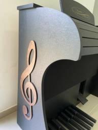 Orgão Eletrônico classic preto fosco Digital acordes