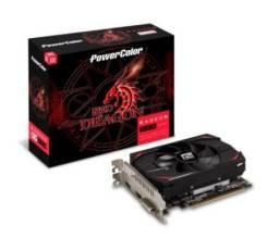 Placa de Vídeo PowerColor Radeon RX 550 Red Dragon 2GB Gddr5 - Loja Fgtec Informática