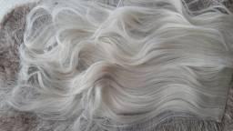 Aplique Mega Hair Fibra Futura Premium, loiro claríssimo