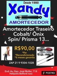 Par de Amortecedor traseiro Cobalt/ Sonic/ Ônix/ Spin/ Prisma 2013...