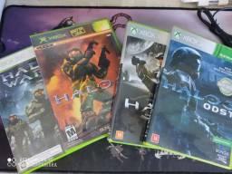 Halo 2 Classic, Halo 3 ODST, Halo Wars e Halo Combate Evolved e Minecraft para Xbox 360