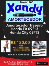 Par de amortecedores traseiro Honda Fit 09/13 Honda City 09/13