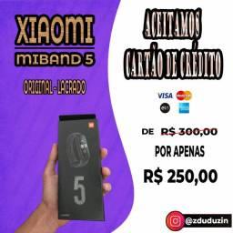 MiBand 5 ORIGINAL E LACRADO COM GARANTIA*