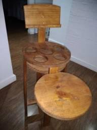Petisqueira de madeira