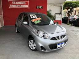 Nissan march 1.0 12v s 2017 cinza completo flex
