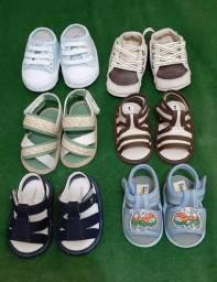 Sapato de bebê menino