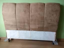 Cabeceira para cama de casal Queen - suede