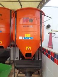 Misturador de ração MFW de 500kg e 1000kg